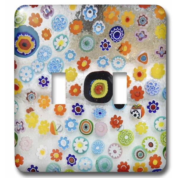 3drose Italy Venice Millefiori Glass Abstract 2 Gang Toggle Light Switch Wall Plate Wayfair