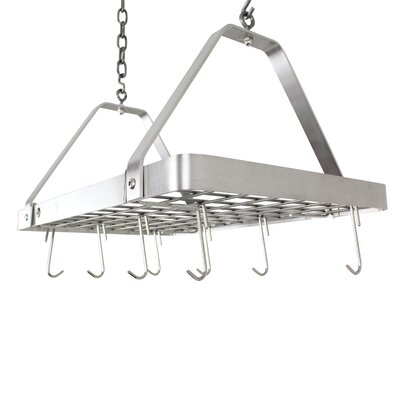 Handcrafted Ceiling Rack Stainless Steel Hanging Pot Rack Enclume