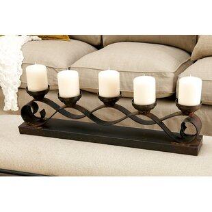 Five Candle Centerpiece Candelabra byFleur De Lis Living