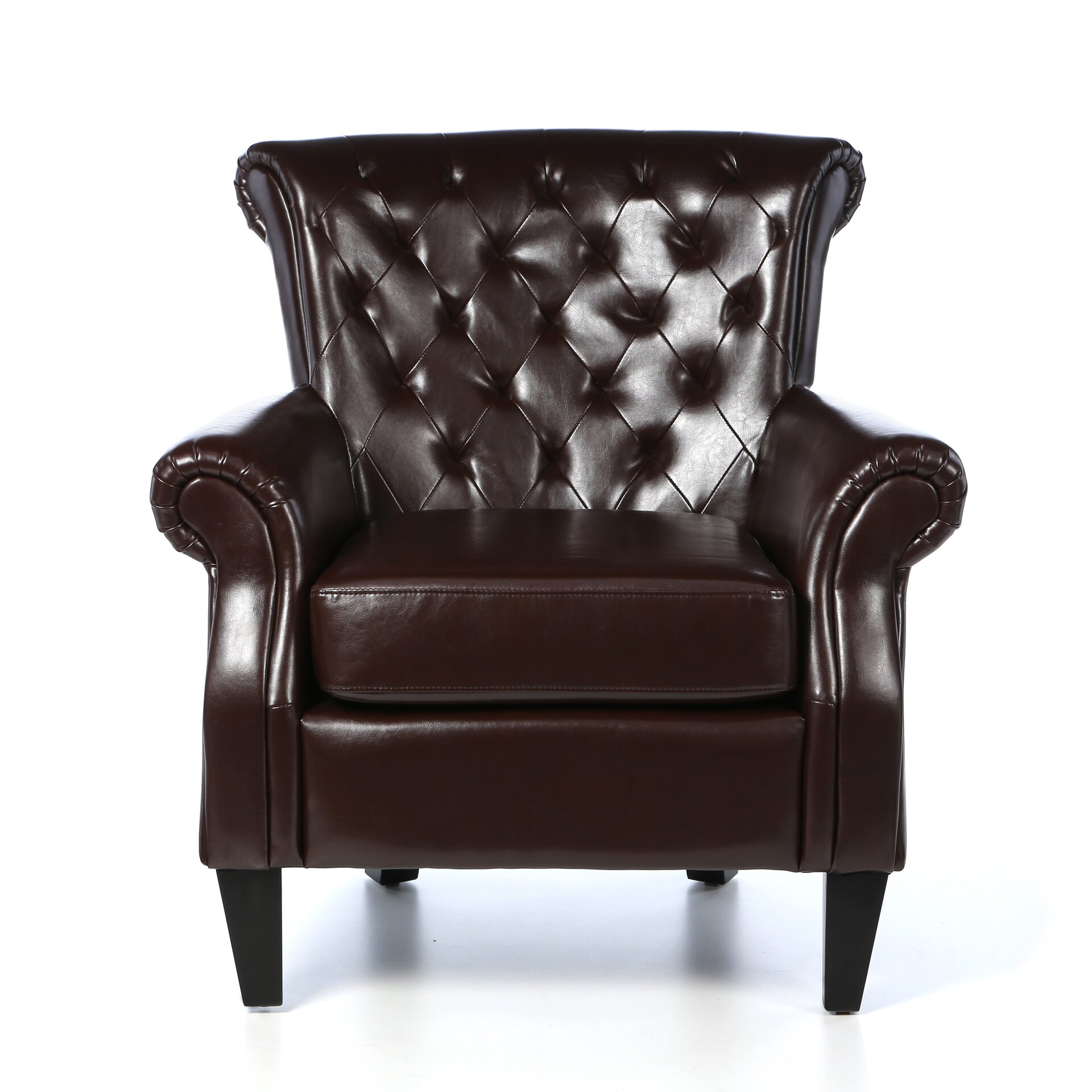 Home loft concepts mcclain tufted upholstered club chair reviews wayfair - Upholstered chairs for small spaces concept ...
