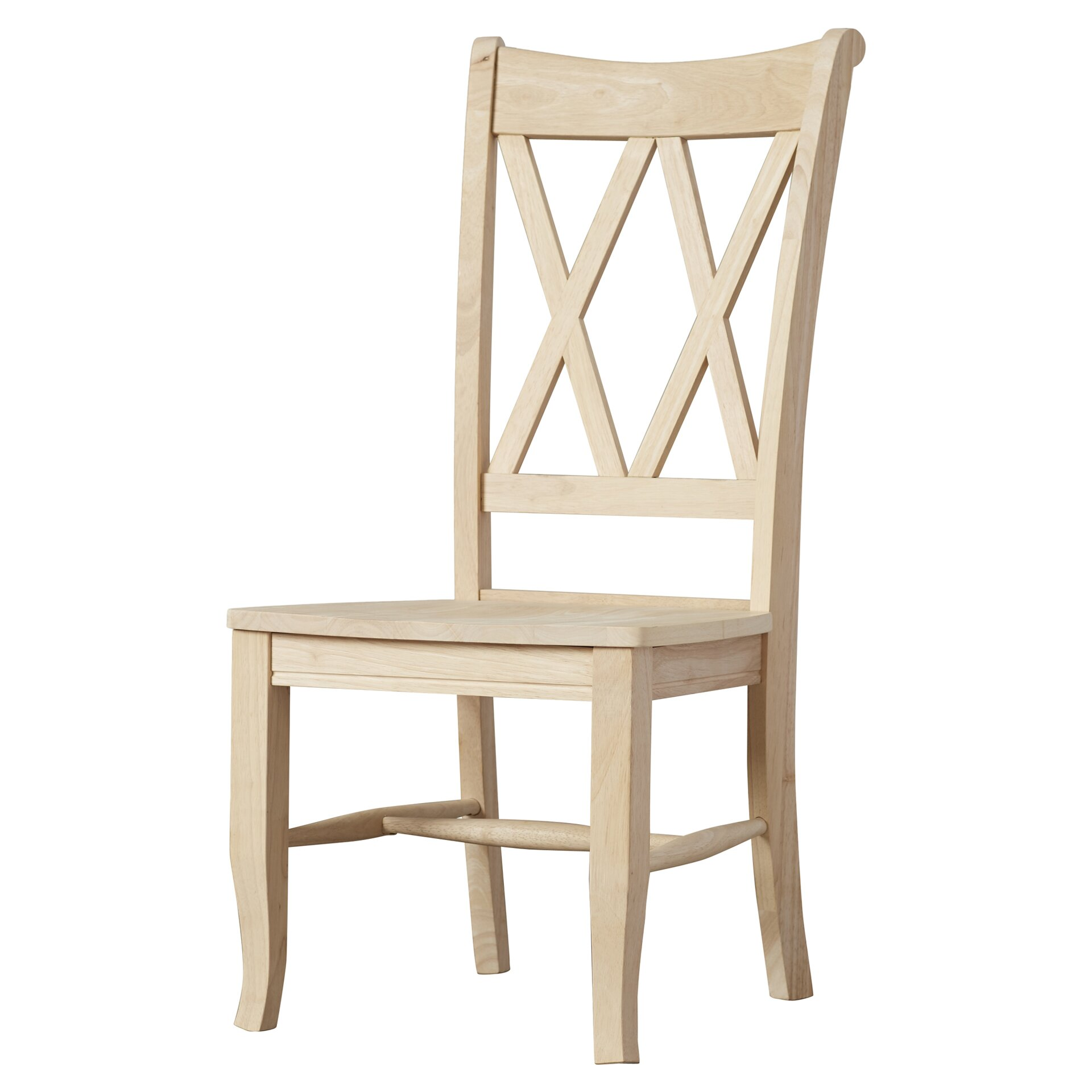 Solid Wood Dining Chairs: August Grove Imogene Cross Back Solid Wood Dining Chair