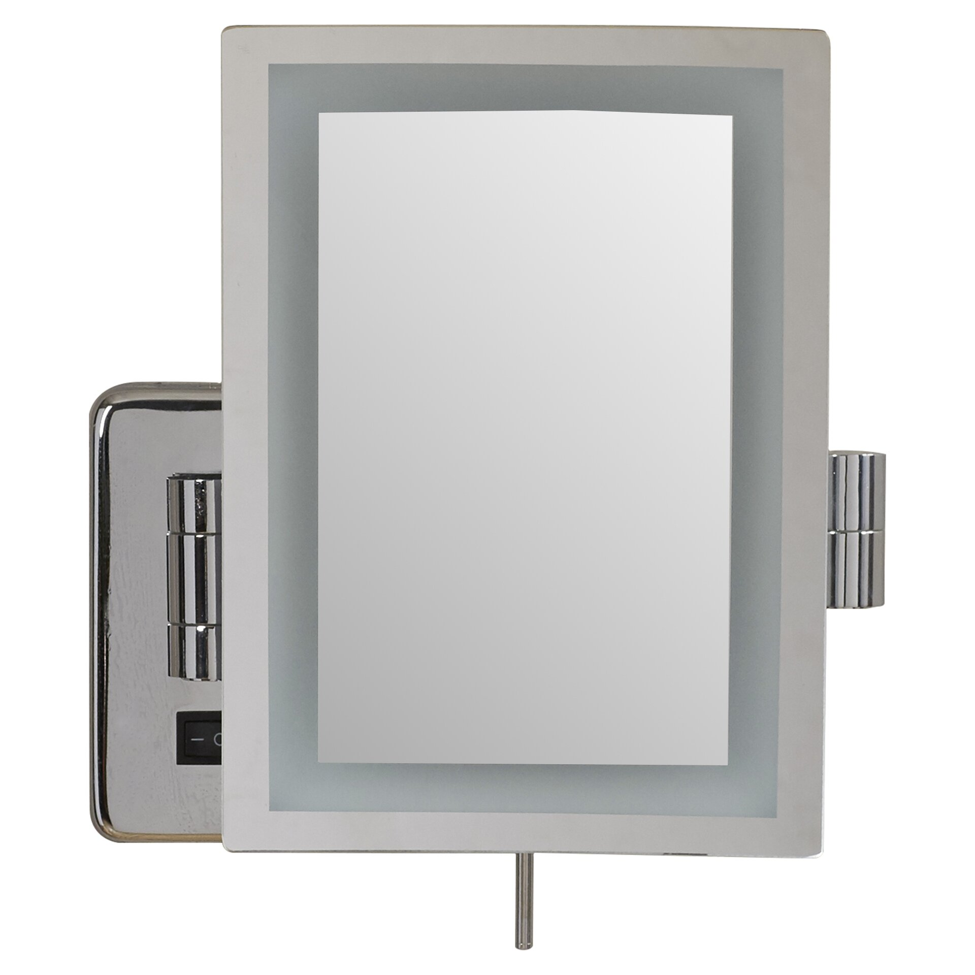 Wall Makeup Mirror wade logan alonso direct wire wall mount rectangular makeup mirror