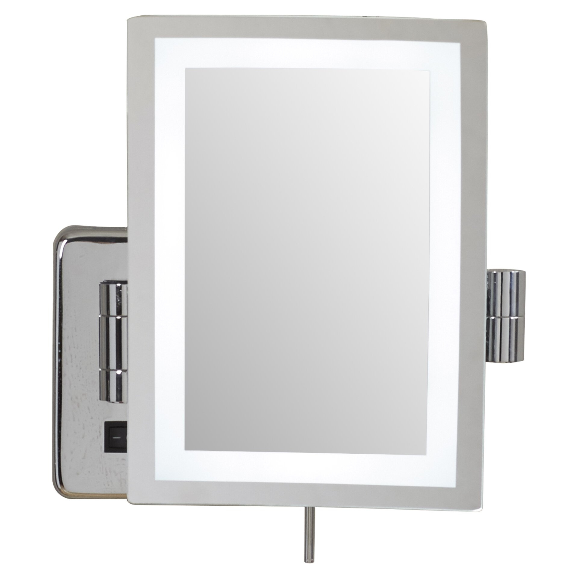 Wall Mount Vanity Mirror wade logan alonso direct wire wall mount rectangular makeup mirror