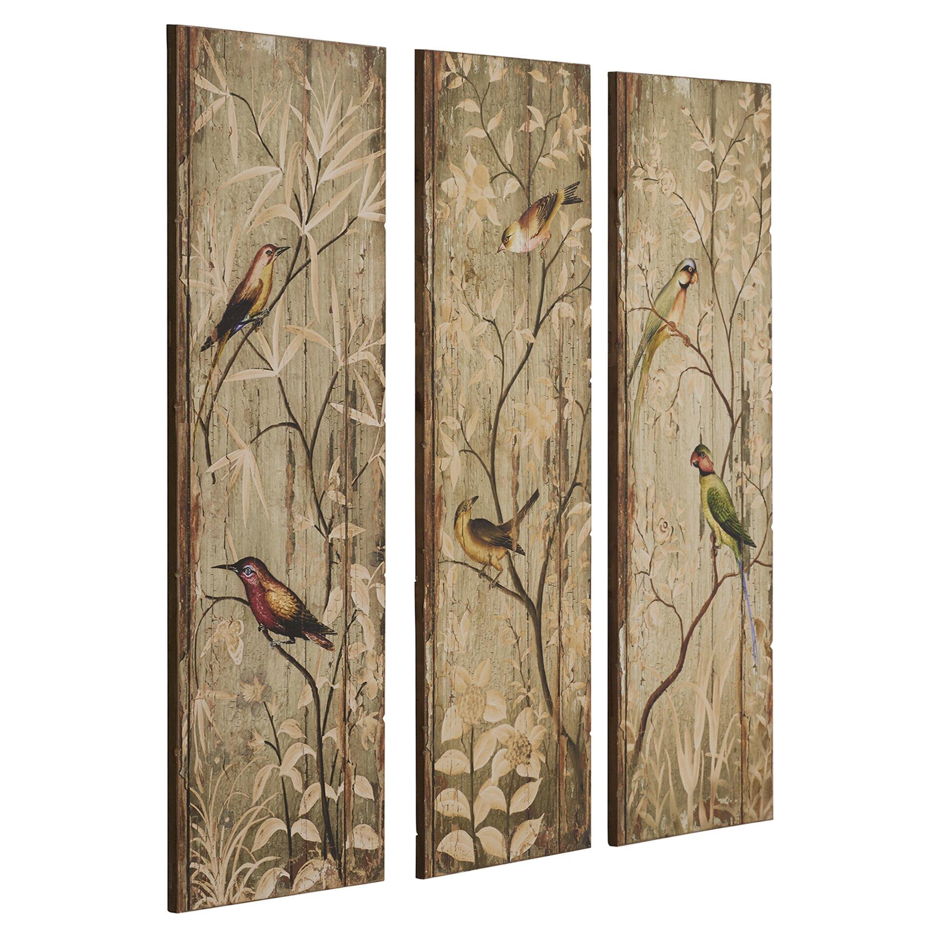 perched birds wall decor - Bird Wall Decor