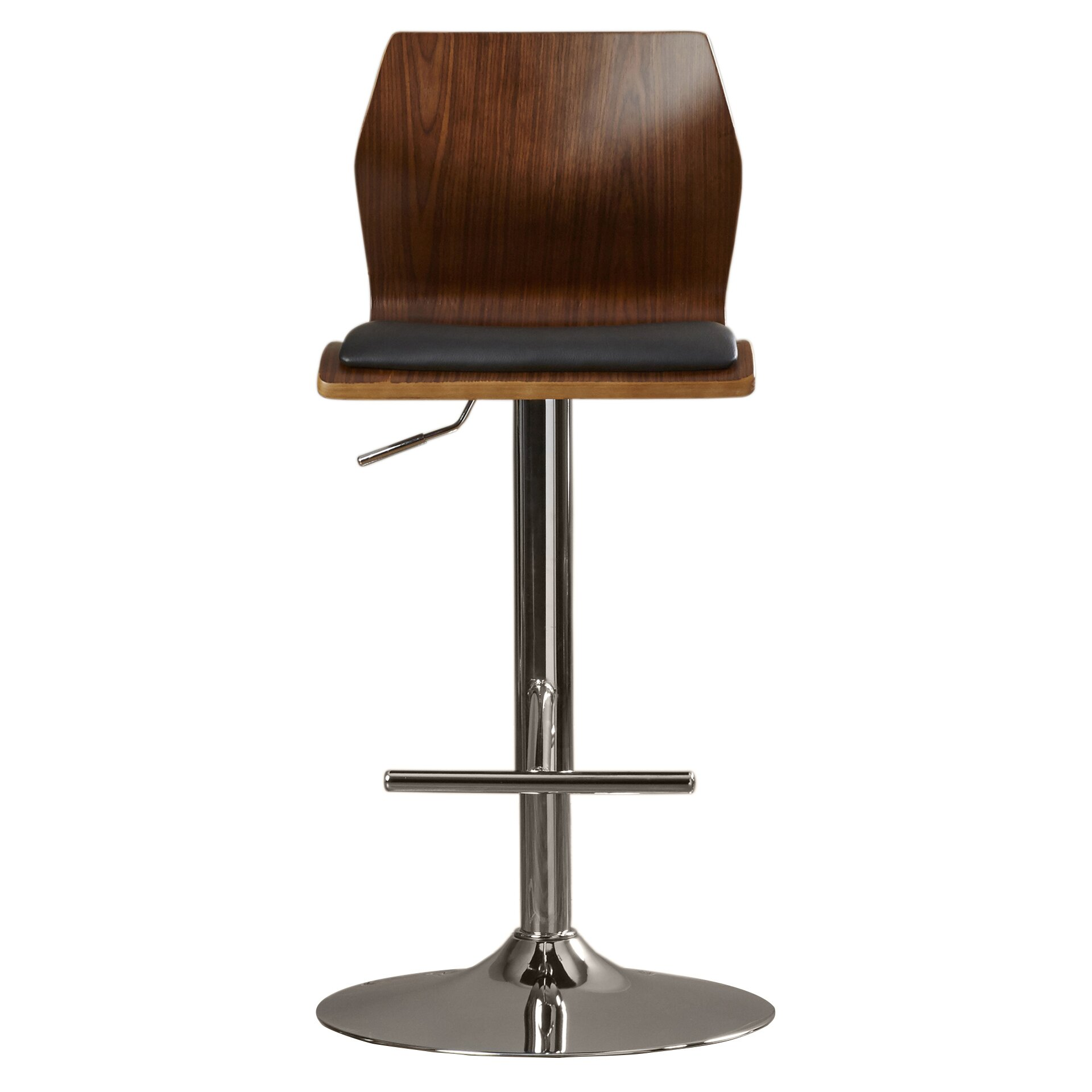 Wade Logan Jarvis Adjustable Height Swivel Bar Stool