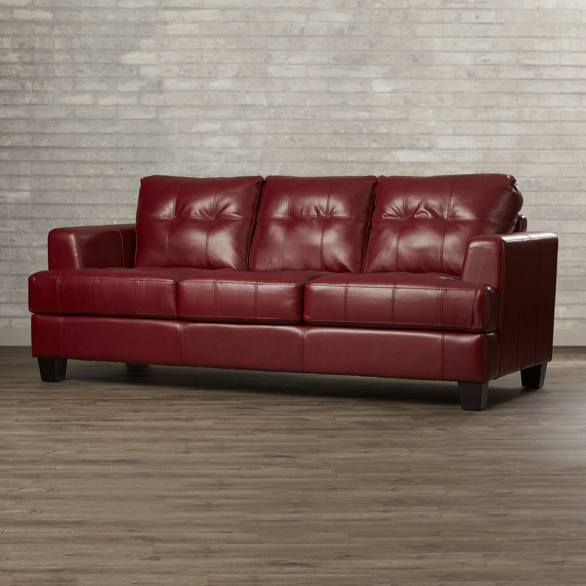 ... Kedzie Leather Sofa ...