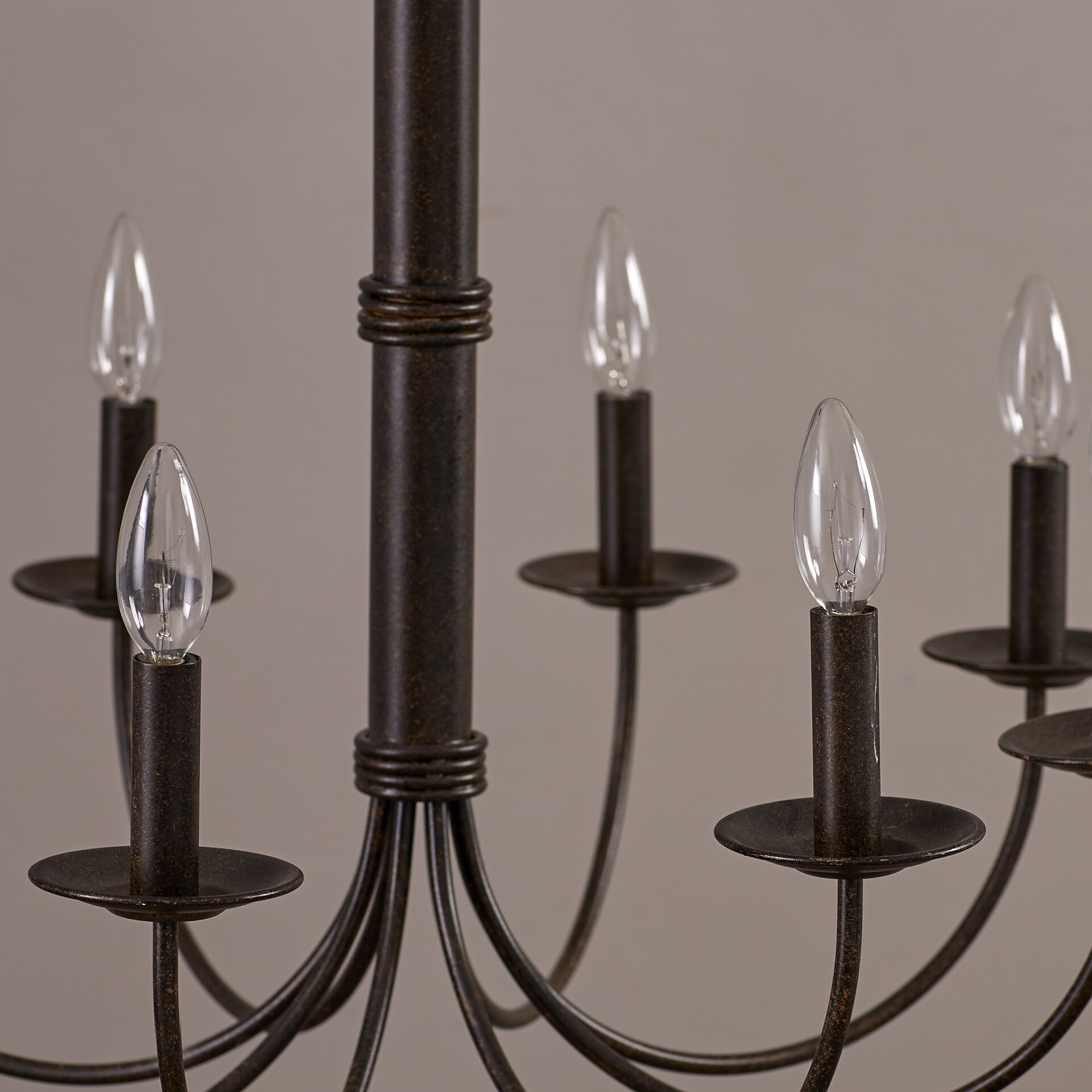 8 Light Candle Style Chandelier & Reviews