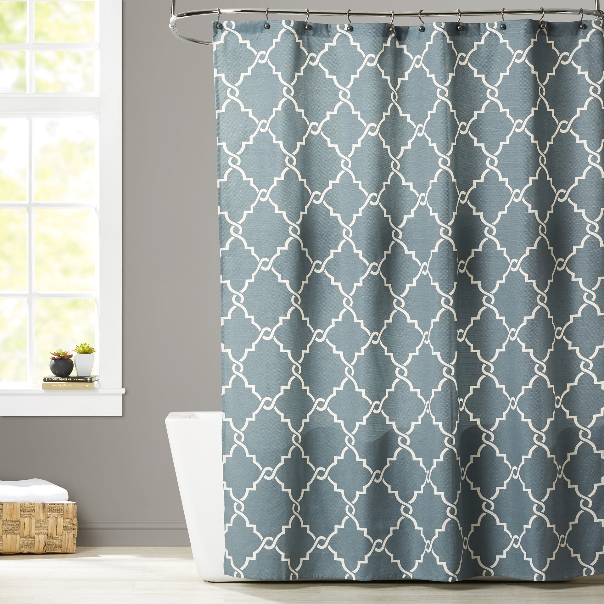 Chevron bathroom sets with shower curtain and rugs - Somerset Shower Curtain