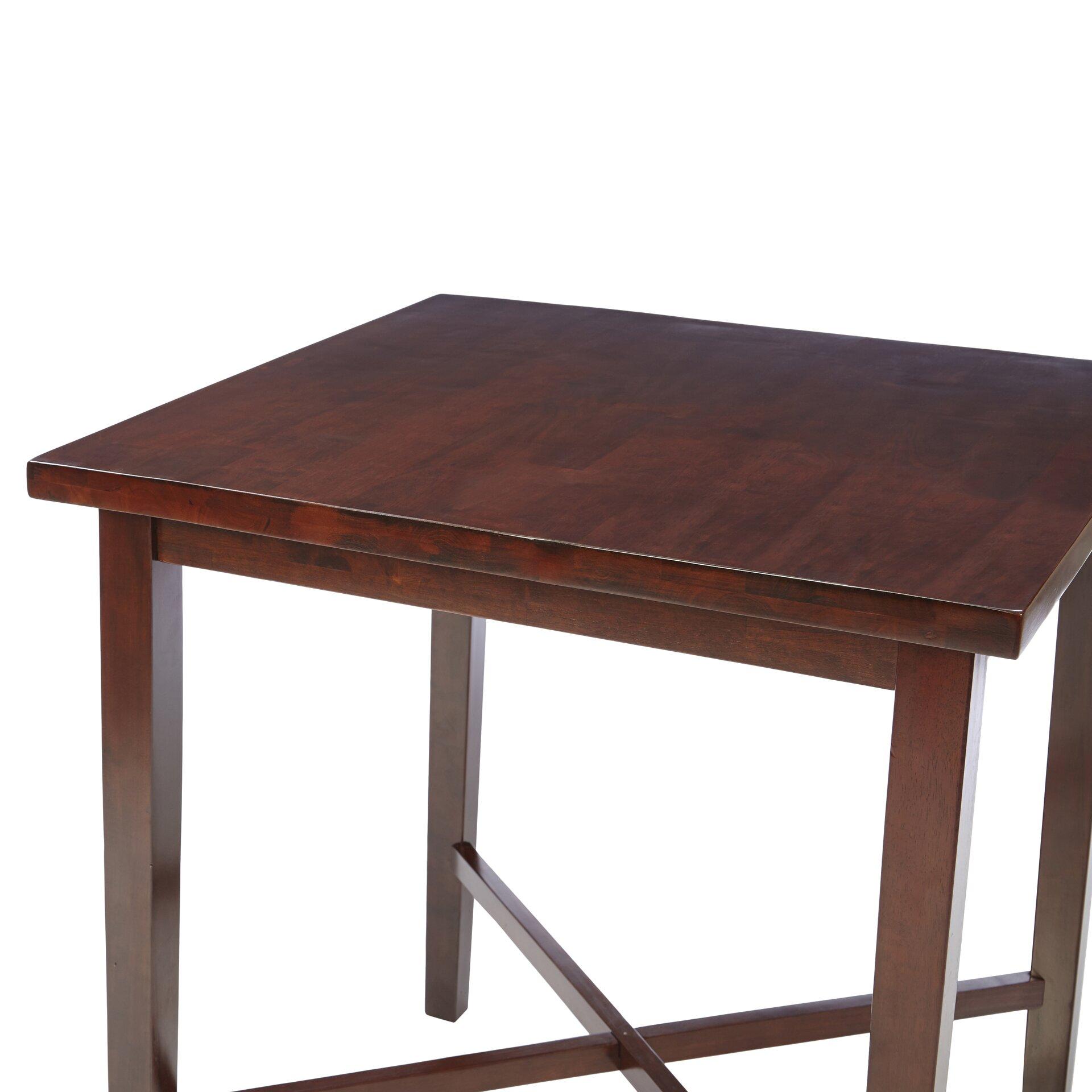 Red Barrel Studio Timberlake Square Wood Pub Table