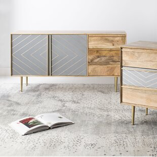 Jelissa Inlayed Cement Sideboard by Union Rustic