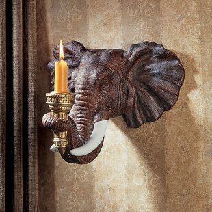 Elephant Sculptural Resin Sconce