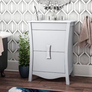 Review Cataldo Modern Wood Floor Mount 23.75 Single Bathroom Vanity Set by Royal Purple Bath Kitchen