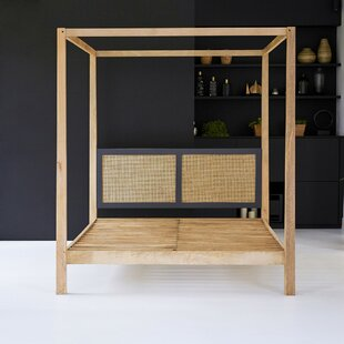 Best Rafael European Kingsize (160 X 200 Cm) Canopy Bed