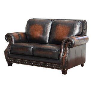 Cletus Leather Loveseat by Canora Grey