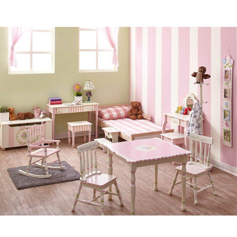 Bouquet Vanity Table \u0026 Stool Set  sc 1 st  Wayfair & Fantasy Fields Bouquet Vanity Table \u0026 Stool Set \u0026 Reviews | Wayfair