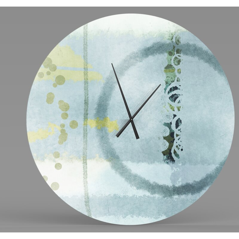 Latitude Run Indestructible Great Abstract Metal Wall Clock Wayfair