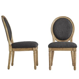Ophelia & Co. Lachance Round Upholstered Dining Chair (Set of 2)
