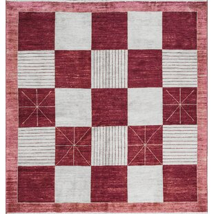 One-of-a-Kind Gabbeh Handwoven Wool Red/White Indoor Area Rug ByBokara Rug Co., Inc.