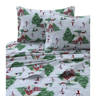 170-GSM Printed Flannel Extra Deep Pocket 100% Cotton Sheet Set