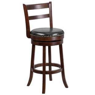 Mckenzi 30'' Swivel Bar Stool by Red Barrel Studio