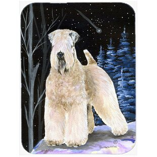 Starry Night Soft Coated Wheaten Terrier Glass Cutting Board ByCaroline's Treasures