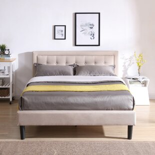 Pinheiro Upholstered Platform Bed by Wrought Studio