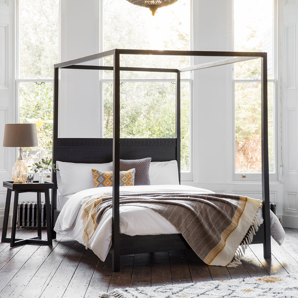 Picture of: Three Posts Behling Four Poster Bed Reviews