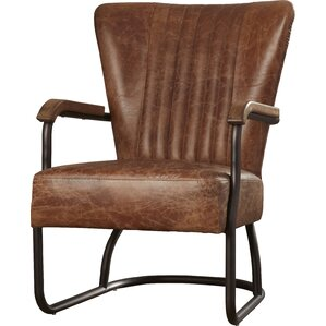 chelsea top grain leather armchair