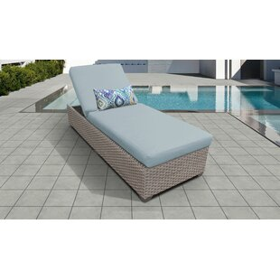 Monterey Outdoor Chaise Lounge with Cushion by TK Classics