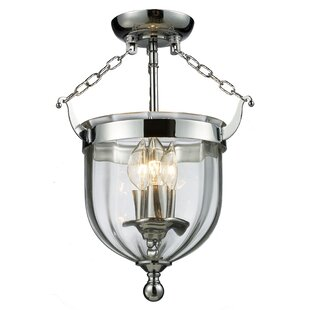 Hegg 3-Light Semi Flush Mount by Alcott Hill