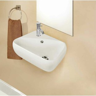 Ceramic Specialty Bathroom Sink with Faucet and Overflow American Imaginations