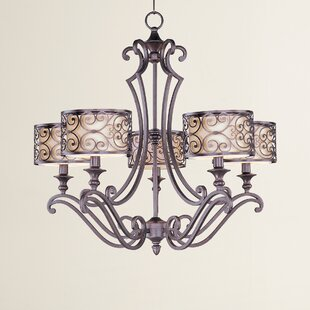 Three Posts Gidney 5-Light Shaded Chandelier