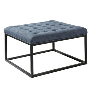 Iolite Square Ottoman by House of Hampton