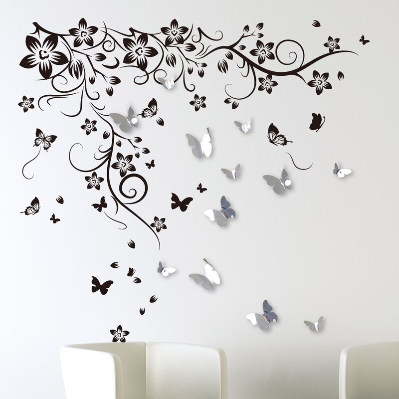 Wandtattoo 3D-Schmetterlinge