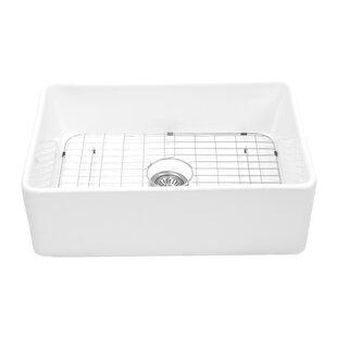 Charleston Reversible 30 X 20 Farmhouse Kitchen Sink With Basket Strainer