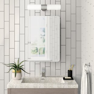 Review Wren 46cm X 66cm Surface Mount Mirror Cabinet