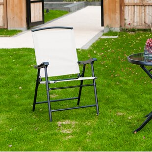 Flaherty Lightweight Folding Patio Dining Chair (Set of 2)