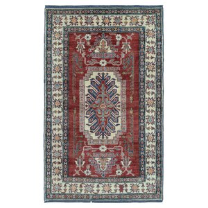 One-of-a-Kind  Roslyn Traditional Oriental Hand Woven Red Area Rug
