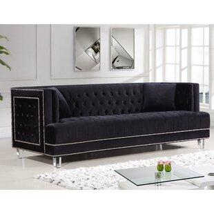 Black Velvet Sofas You\'ll Love | Wayfair