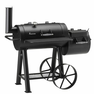 Landmann Tennessee Barbecue Offset Charcoal Smoker And Grill By Symple Stuff