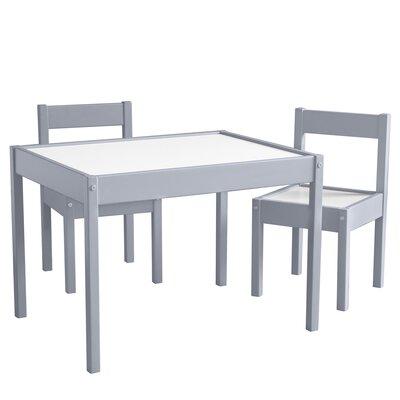 Mack & Milo Ramona 3 Piece Rectangular Writing Table and Chair Set Color: Gray