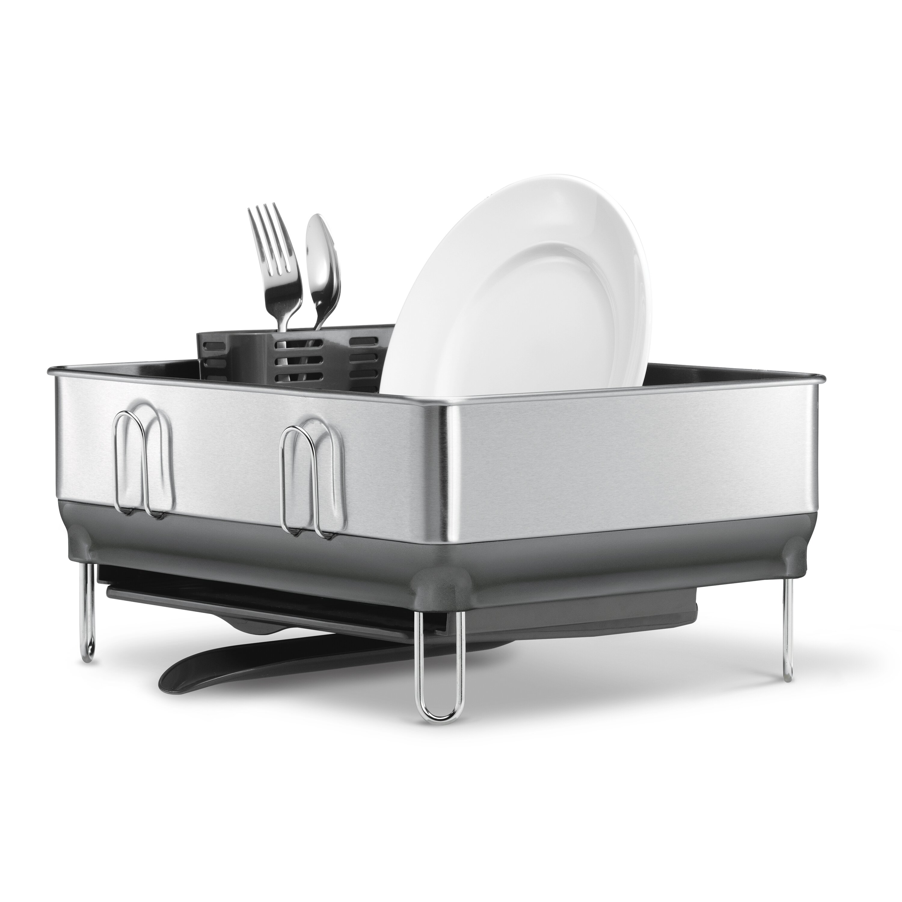 4471319d8554 KT1179 Compact Steel Frame Dish Rack Fingerprint-Proof Stainless Steel with  Plastic