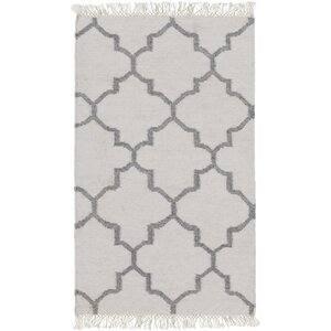 Palladio Hand-Woven White/Charcoal Area Rug