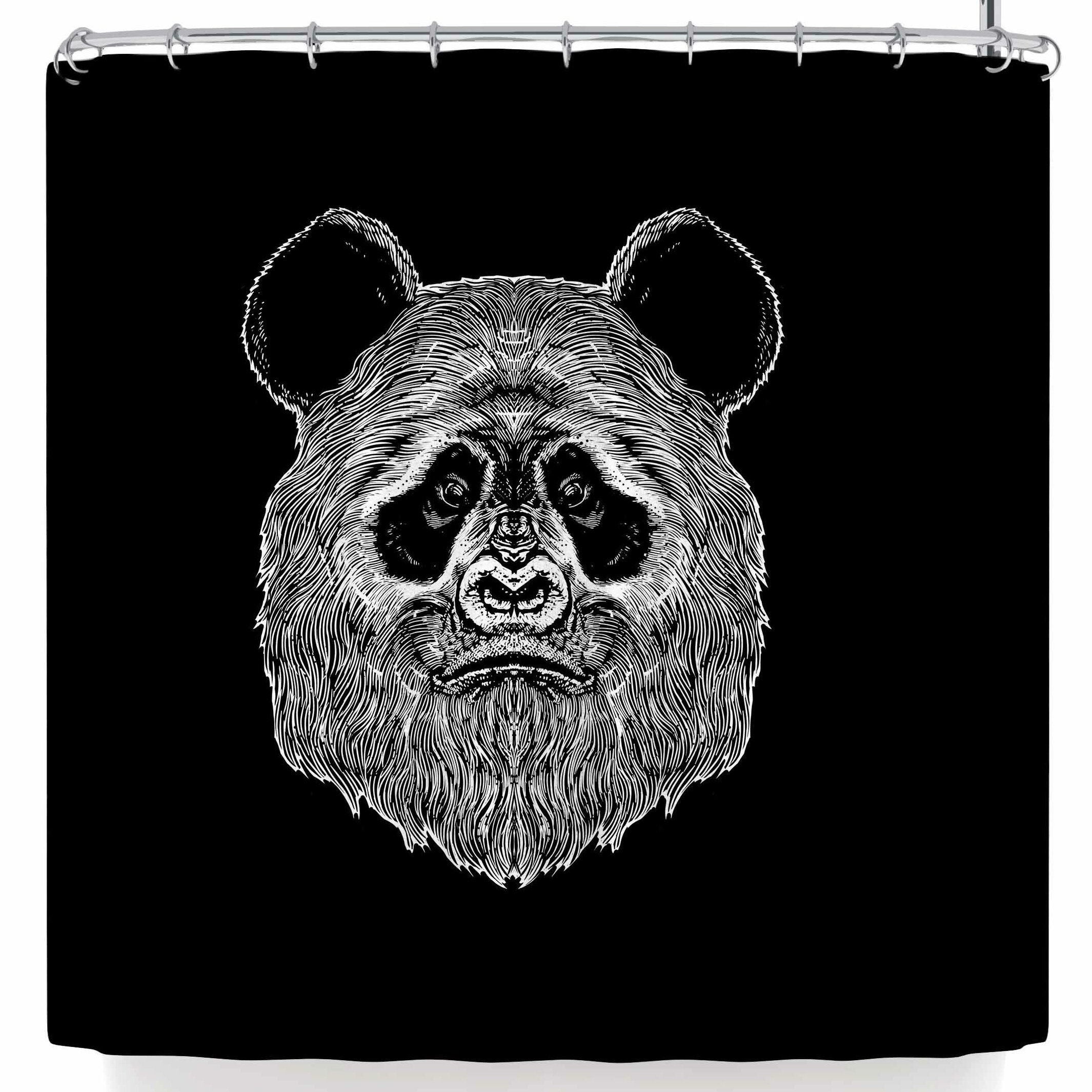 East Urban Home BarmalisiRTB Bigfoot Panda Shower Curtain