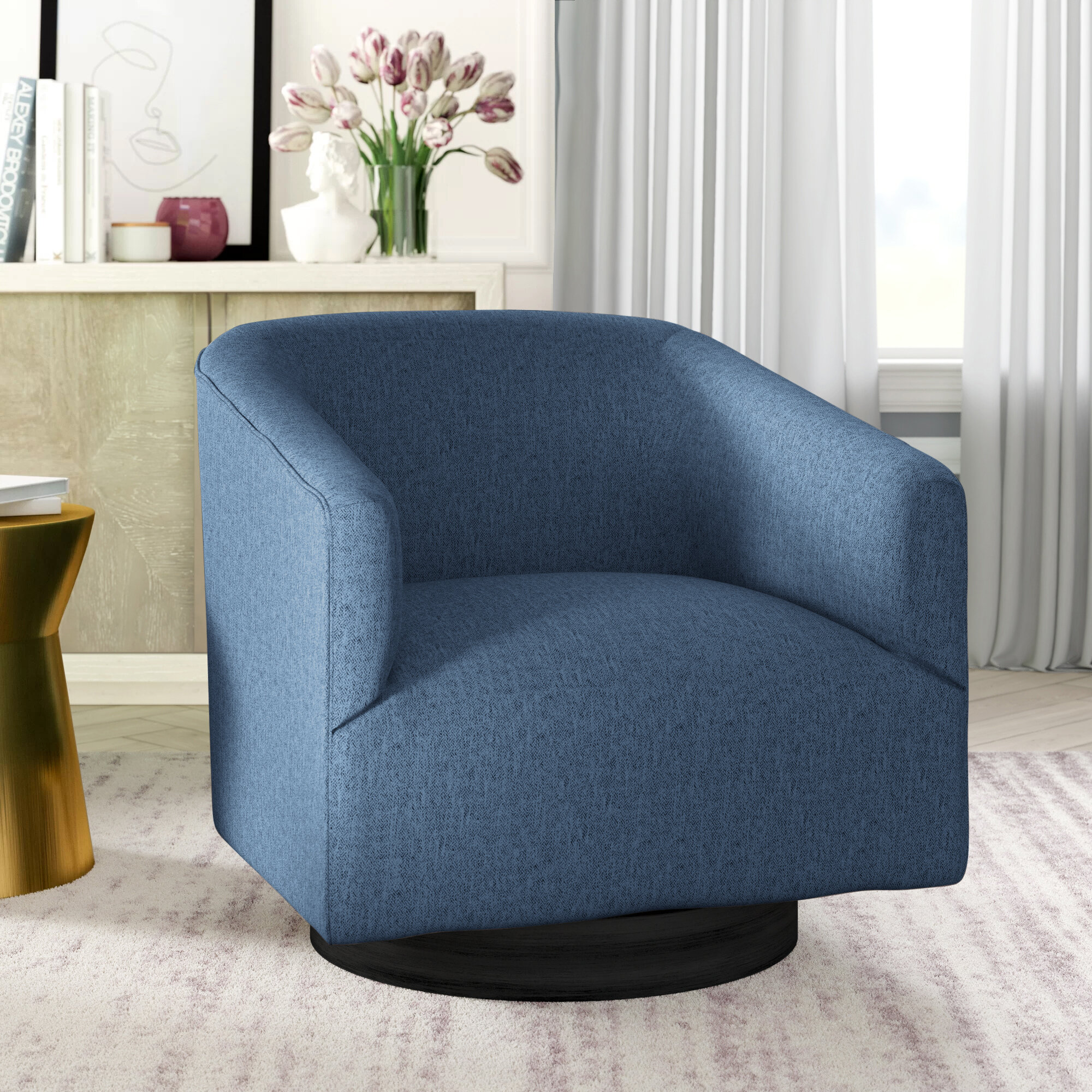 Picture of: Clarkson Swivel Barrel Chair Reviews