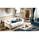 Lena Chenille 90 Round Arms Sofa by One Allium Way®