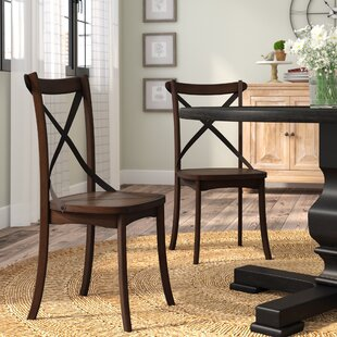 Chapeau Solid Wood Dining Chair (Set of 2) Laurel Foundry Modern Farmhouse
