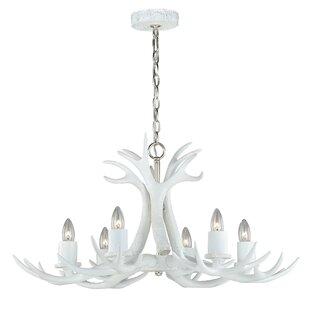 real antler chandelier elk vail antler 6light chandelier real chandeliers wayfair
