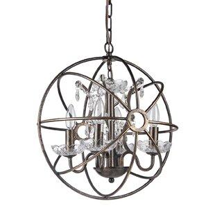 Gracie Oaks Leung 4-Light Chandelier