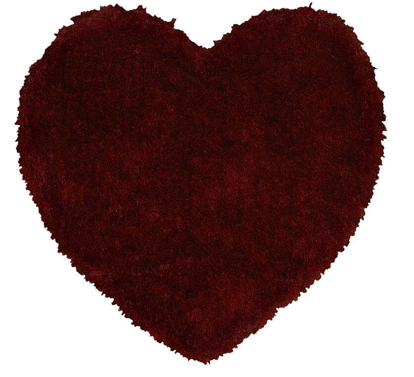 Senses Shag Heart Red Arera Rug